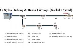 Nylon Tubing & Fittings (Nickel Plated)