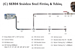 SS304 Stainless Steel Tubing & Fittings